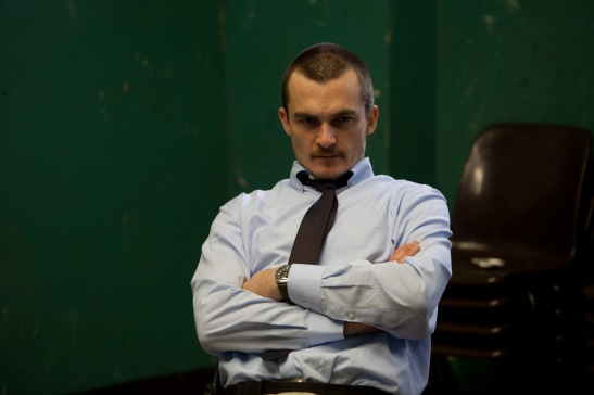 Rupert Friend  playing Oliver Baumer in Starred Up