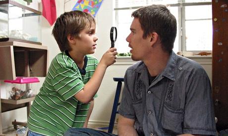 Ellar Coltrane and Ethan Hawke as Mason Jr and Sr in Boyhood