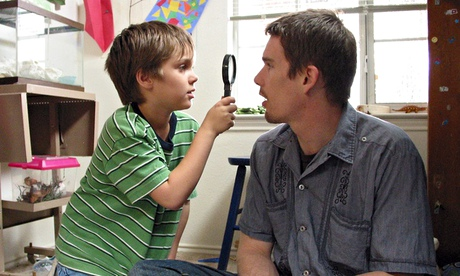 Ellar Coltrane and Ethan Hawke as Mason Jr and Sr in Boyhood