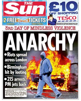 LondonRiotsFrontPages1