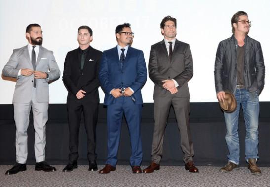 Shia LaBeouf, Logan Lerman, Michael Pena, Jon Bernthal, Brad Pitt