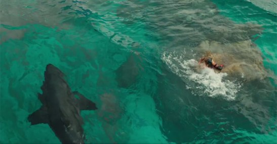 The-Shallows-film-Shark-and-girl-on-a-rock