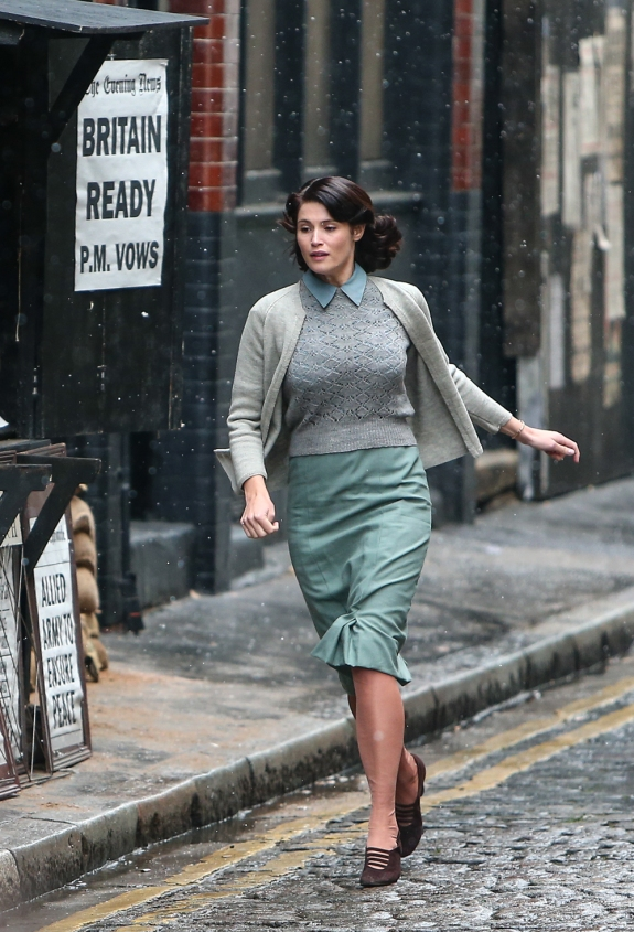 Gemma Arterton film set