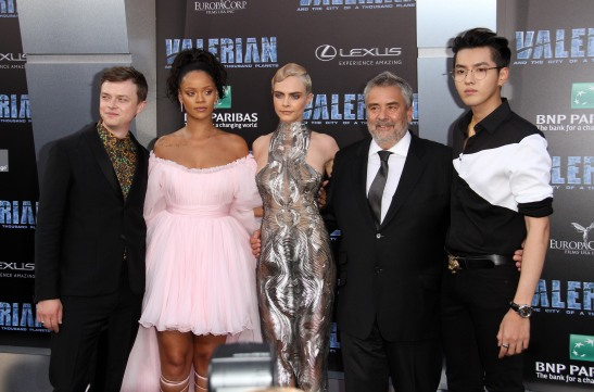 Dane-DeHaan-Rihanna-Cara-Delevingne-Luc-Besson-and-Kris-Wu-Valerian-and-the-City-of-a-Thousand-Planets-World-Premiere-Hollywood-Los-A