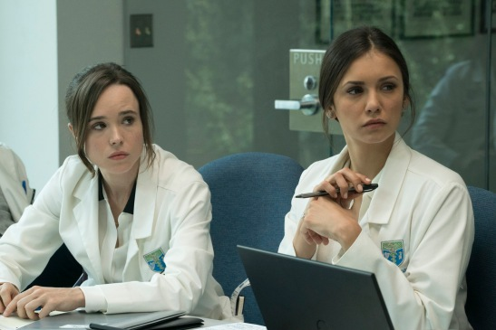 Courtney (Ellen Page) and Marlo (Nina Dobrev) in Columbia Pictures' FLATLINERS.